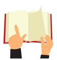 Reading book flat sign vector image vector image