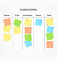 realistic 3d detailed kanban board with color vector image