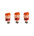 red haired man with different face expressions set vector image vector image