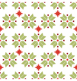 seamless pattern of geometric snowflakes vector image vector image