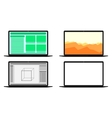 Set of computers with different screens vector image vector image