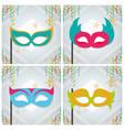 set of mask party frames vector image