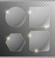 set transparent glass banners vector image vector image