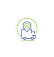 shipping delivery icon line style vector image