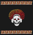 skull girl with red hair vector image vector image