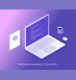 software development and programming program code vector image