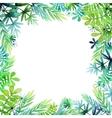 Spring watercolor floral design vector image