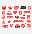 super sale modern hand drawn stickers and labels vector image vector image