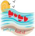 Swim Your Heart Out vector image vector image