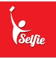 Taking Selfie Photo on Smart Phone concept icon vector image vector image