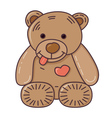 Teddy bear Isolated on white vector image vector image