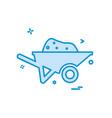 trolley icon design vector image vector image