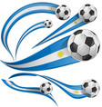 uruguay flag set with soccer ball vector image vector image