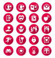 Valentines day flat color icons vector image vector image