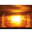 Yoga on blurred background vector image