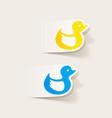 realistic design element duck vector image