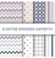 set of geometric seamless pattern in pastel colors vector image