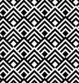 Black and white striped diamonds vector image