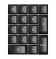 black keyboard vector image