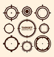 crosshair target graphic icon graphic set vector image
