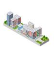 a modern city vector image vector image