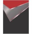 abstract metallic checkmark background 1 vector image vector image