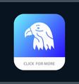 animal bird eagle usa mobile app button android vector image