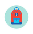 backpack icon isolated travel baggage rucksack vector image
