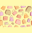 bags and suitcases doodles background vector image