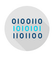 binary data circle icon vector image vector image