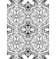 black and white ornament with maze patterns vector image vector image