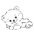 black outline of cute bear