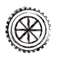 blurred thick contour gear wheel component icon vector image vector image