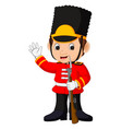 british guardsman cartoon vector image