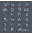 Business handshake and other hands gestures in vector image vector image