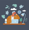 business man tiered vector image vector image