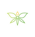 cannabis butterfly drop logo icon vector image vector image