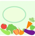 card with different vegetables vector image