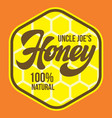 color template for honey packaging design vector image vector image