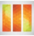 Colorful Vertical Set Of Banners Mosaic vector image vector image