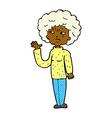 comic cartoon annoyed old woman waving vector image