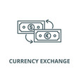 currency exchange line icon linear concept vector image vector image