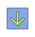 download icon arrow down down vector image