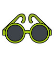 elegant sunglasses isolated icon vector image