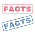 facts textile stamps vector image vector image