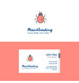 flat bug logo and visiting card template busienss vector image vector image