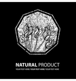 floral logo 14 grunge vector image vector image