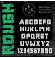font square bold rough vector image vector image