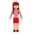 french woman character isolated icon vector image