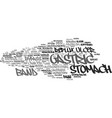 gastric word cloud concept vector image vector image